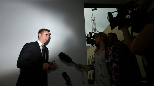 AMA President Brian Owler talks to media at Parliament House in Canberra.
