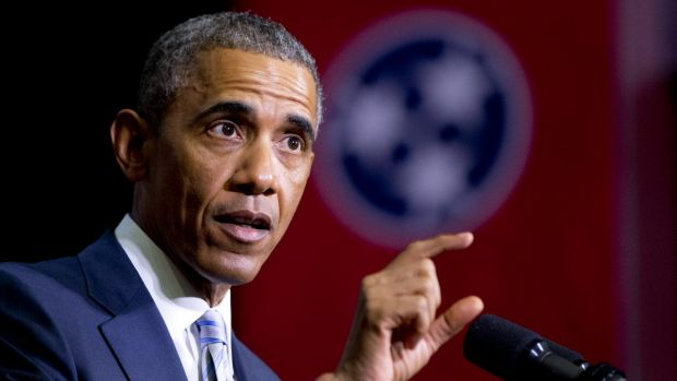 US President Barack Obama faces a budget battle over climate fund.