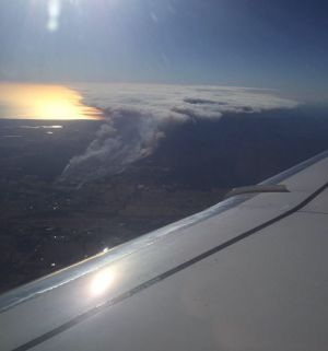 The Bullsbrook fire from the air.