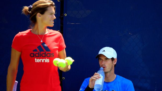 Team: Amelie Mauresmo, seen here at the US Open,  was appointed coach of Andy Murray in June 2014.