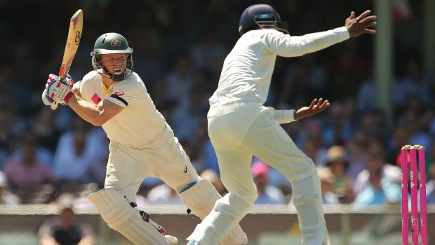 Australia's Chris Rogers in action in the recent Test series against India.