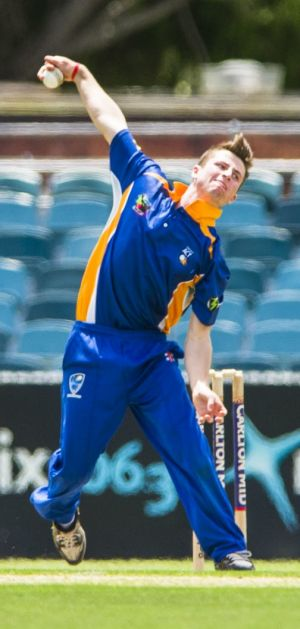Leg spinner Mac Wright made his ACT Comets debut on Monday.