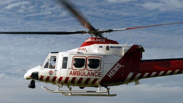 A man is being flown to The Alfred with extensive burns after an explosion in the state's northeast.