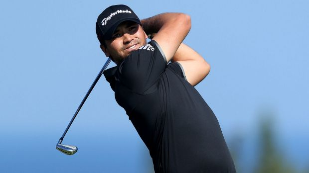 Jason Day hits his tee shot at the fourth hole in Hawaii.