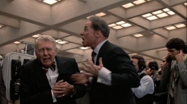 When deals go bad: Randolph and Mortimer Duke on the receiving end of karma in Trading Places.