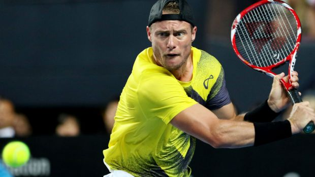 A front-on angle of Lleyton Hewitt was a feature of Nine's coverage during a 14-point rally.