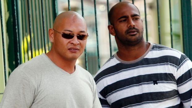 Andrew Chan, left, with Myuran Sukumaran  inside Kerobokan prison in 2011.