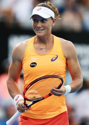 Bundled out: Samantha Stosur was beaten in the second round of the Sydney International.