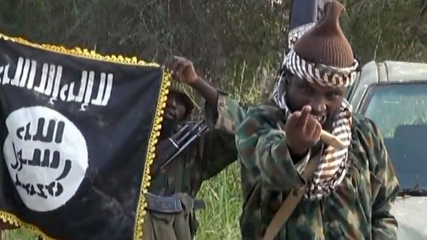 Ruthless militant: Boko Haram leader Abubakar Shekau last year threatened Cameroon in a message on YouTube.