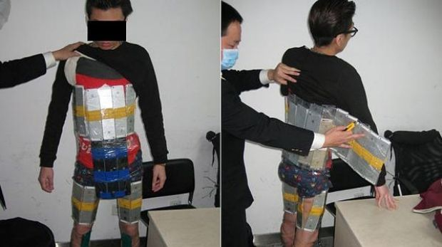 'Apple Man' ... this man was allegedly caught trying to smuggle 94 iPhones into mainland China from Hong Kong. ...