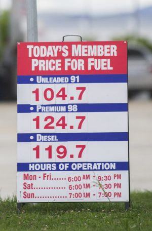 And Costco was also selling petrol for 104.7 cents per litre.