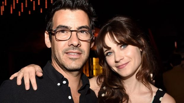 New Girl star Zooey Deschanel with boyfriend Jacob Pechenik.