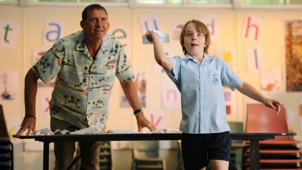Ed Oxenbould, right, and Peter Rowsthorn in <i>Paper Planes</i>, the most successful live-action Australian family film ...
