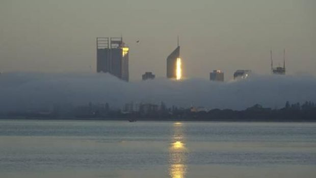 Perth skyline from South Perth on Wednesday morning.