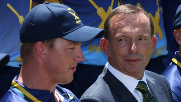 Prime Minister Tony Abbott, pictured at the PM's XI in Canberra on Wednesday, has defended his government's decision to ...
