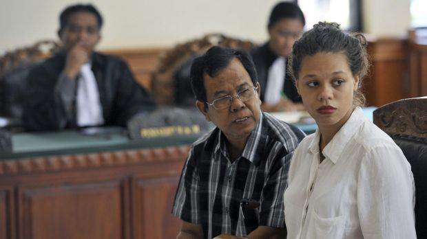 Heather Mack listens while sitting next to an interpreter in a court in Denpasar, Bali. Mack is charged with the ...