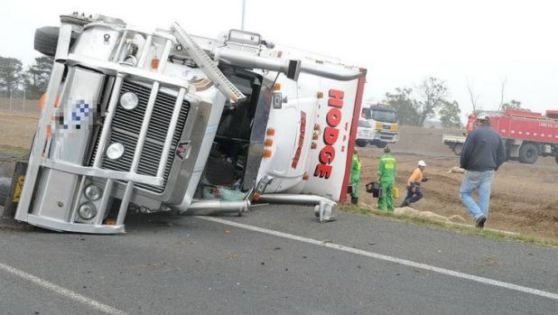 The scene of the crash on the Western Highway.