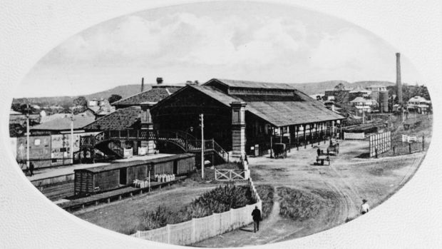 Roma Street Station in the early 1900s.
