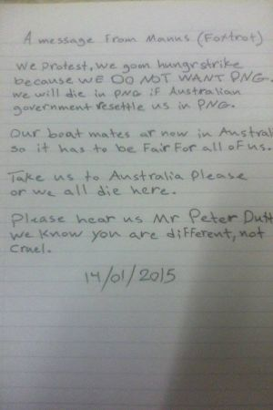 The letter for Peter Dutton.