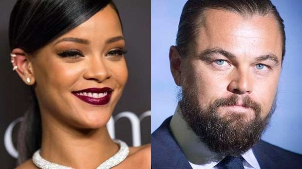 Surprise pair ... Singer Rihanna and actor Leonardo DiCaprio have reportedly been 'hooking up for months'.