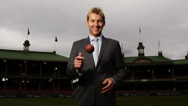 Calling it a day: Brett Lee at the SCG after announcing he will retire at the end of the Big Bash season.