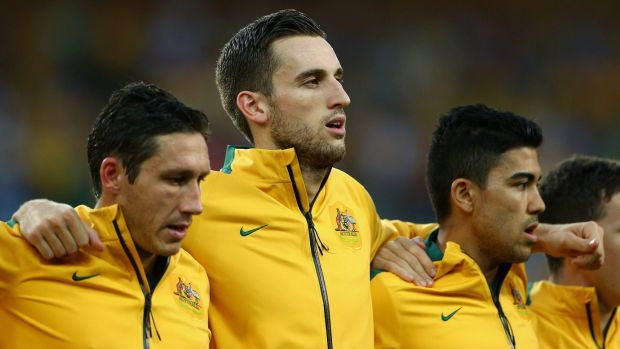 Socceroo Matthew Spiranovic has been sidelined with a calf injury.