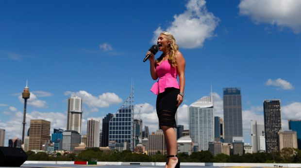 Organisers hope singer Anja Nissen will  breathe joined by 23 million people around the country in singing the national anthem ...