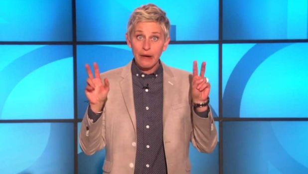 "Ellen DeGeneres hits back at the pastor, saying she isn't ""married"", instead she is married (no quotation marks)."