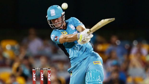 Big hitter: Chris Lynn helped guide Brisbane to only their second BBL win of the season.