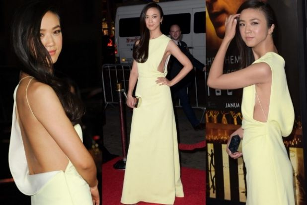 THE GOOD: Lemon yellow's such a classic, and yet we see very few gowns in the hue - Chinese actress Tang Wei looks ...