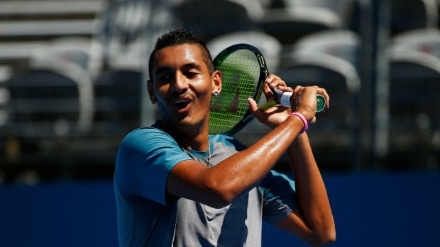 Australian tennis player Nick Kyrgios will play Argentina's Federico Delbonis in the Australian Open first round.