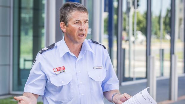 ACT Policing acting superintendent Harry Hains appeals for information on whereabouts of missing man Robert Sigismundi.
