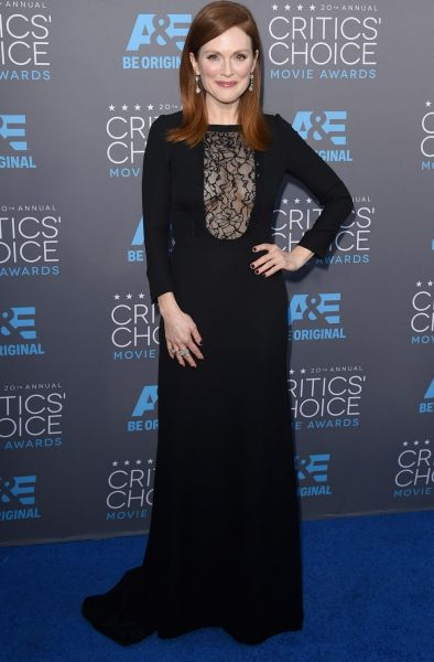 Actress Julianne Moore attends the 20th annual Critics' Choice Movie Awards.