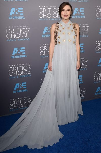 Actress Keira Knightley attends the 20th annual Critics' Choice Movie Awards.