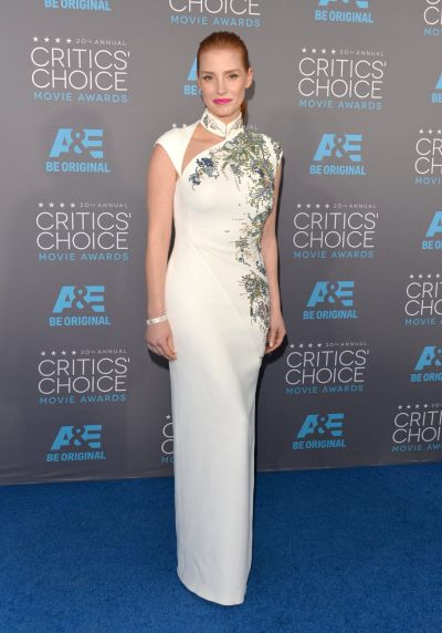 Honoree Jessica Chastain attends the 20th annual Critics' Choice Movie Awards.