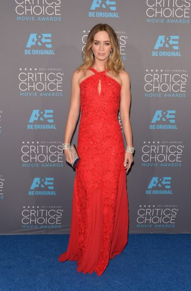 Actress Emily Blunt attends the 20th annual Critics' Choice Movie Awards.
