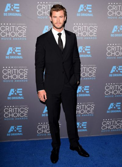 Actor Chris Hemsworth attends the 20th annual Critics' Choice Movie Awards.