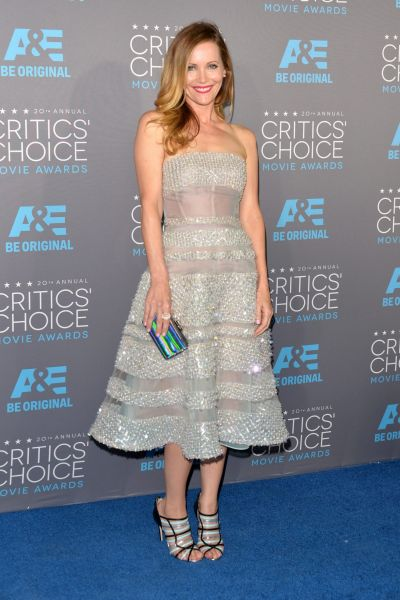 Actress Leslie Mann attends the 20th annual Critics' Choice Movie Awards.