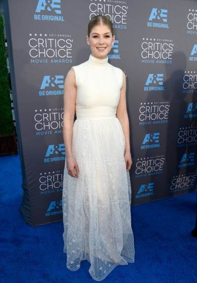 Actress Rosamund Pike attends the 20th annual Critics' Choice Movie Awards.