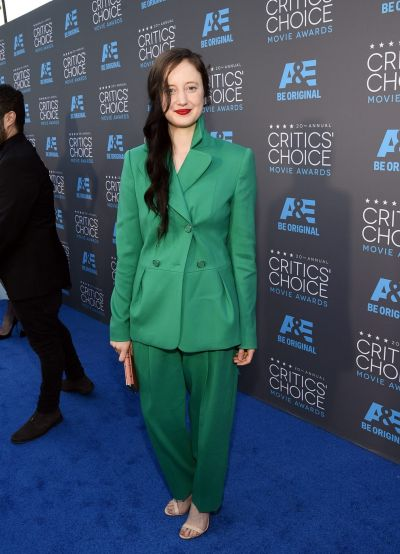 Actress Andrea Riseborough attends the 20th annual Critics' Choice Movie Awards.