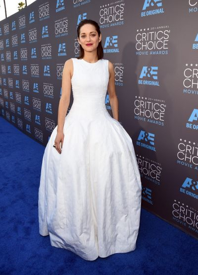 Actress Marion Cotillard attends the 20th annual Critics' Choice Movie Awards.