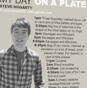 """""""Cool, they finally printed my day on a plate."""""""