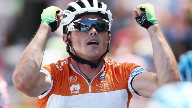 Tough break: A broken collarbone has ruled Simon Gerrans out of the Tour Down Under.