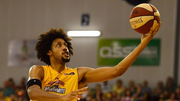 Taking it to the rack: Kings import Josh Childress scored 27 points against Townsville.