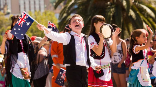 Participants in last year's Australia Day march.