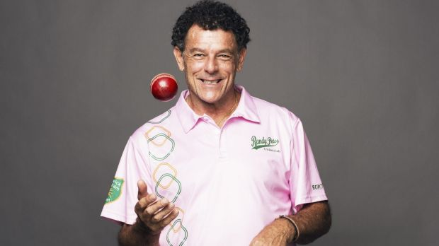 Classic souvenir: Mike Whitney photographed with the ball he will be presenting to former New Zealand test bowler Sir ...