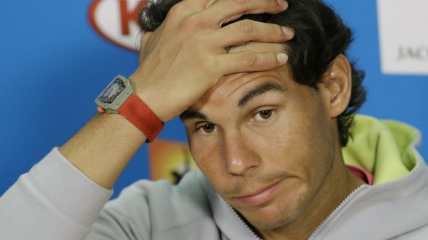 Uncertain: Spain's Rafael Nadal gives free expression to his doubts at a press conference before the Australian Open on ...