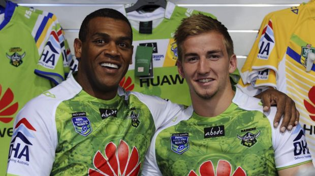 Ken Nagas, 41, and Lachlan Croker, 18, will both play for the Raiders at the Auckland Nines.