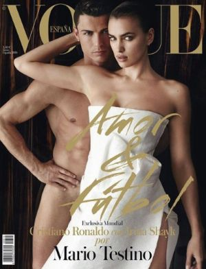 Ronaldo and Shayk on the cover of Vogue Spain.