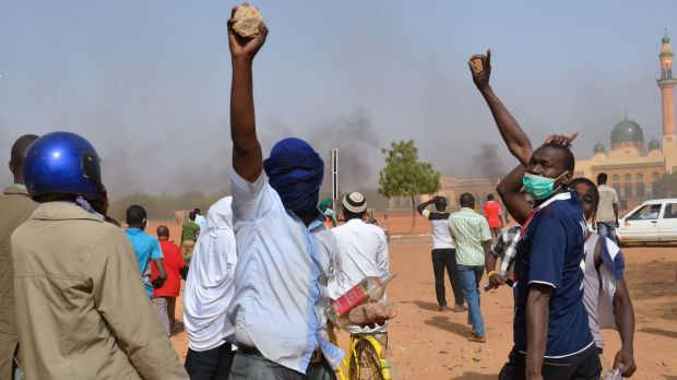 At least 1000 youths assembled at the grand mosque in the capital Niamey to protest.